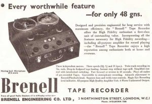 Brenell tape recorder ad