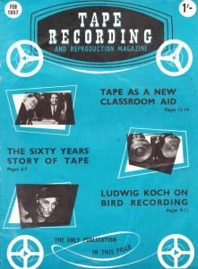 Tape Recording Magazine cover