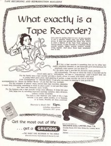 Grundig tape recorder ad