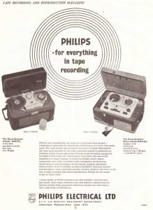 Philips tape recorder ad