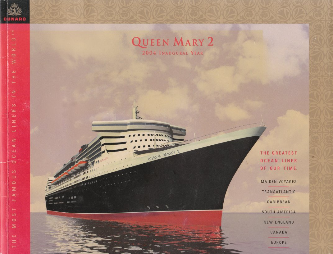 Queen Mary 2 2004 shareholder tour brochure