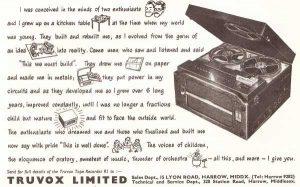 Truvox tape recorder ad
