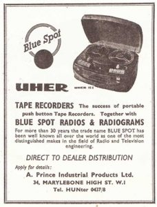 Uher tape recorder ad