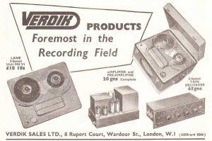 Verdik tape recorder ad