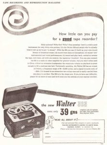 Walter tape recorder ad