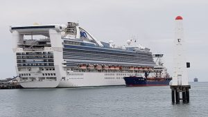 The Golden Princess at Port Melbourne