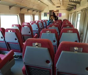 V/Line carriage reversible seats