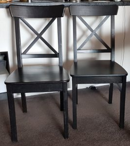 Two IKEA Ingolf chairs
