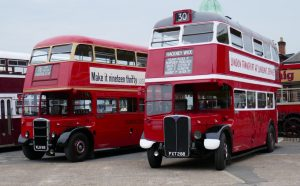 London buses RTW185 and RT113