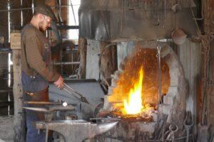 Swan Hill blacksmith at work